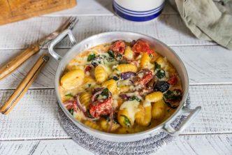 Recette de gratin de gnocchis aux tomates séchées