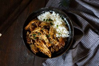 Recette de pulled chicken teriyaki