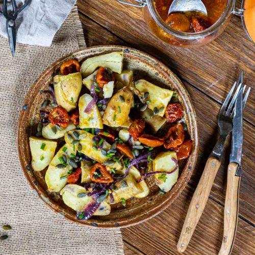 Recette de salade de pommes de terre aux tomates