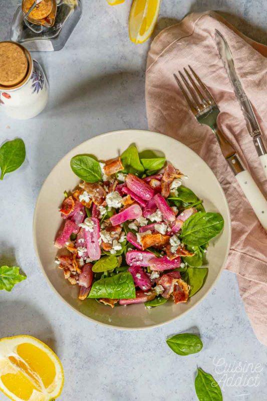 Salade de radis rôtis à la feta