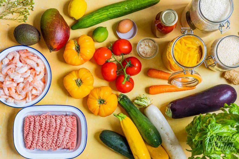 Batch cooking Eté 2 2021 - Ingrédients