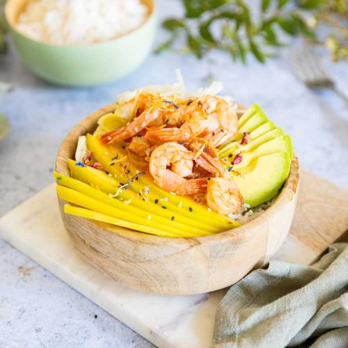 Recette de Poké bowl aux crevettes