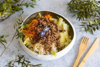 Recette de salade de boeuf sauté asiatique