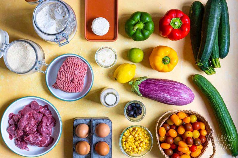 Batch cooking Eté 4 2021 - Ingrédients