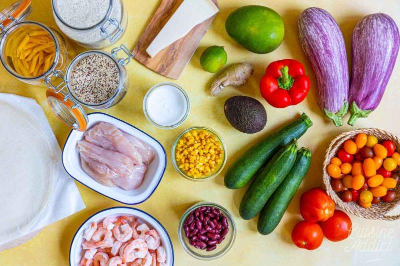 Batch cooking Eté 7 2021 - Ingrédients