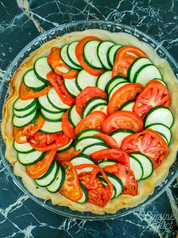Préparation de la tarte aux légumes