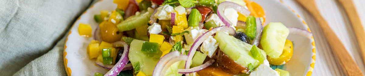 Recette de salade grecque croquante