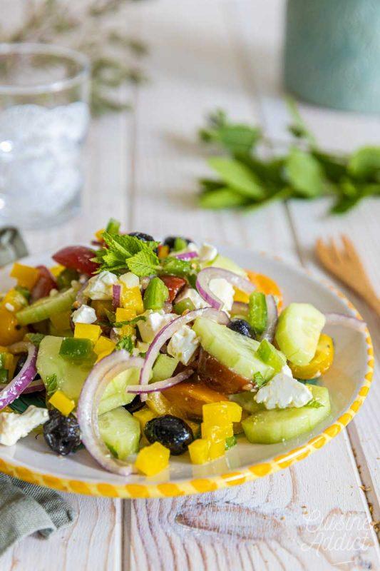 Salade grecque croquante