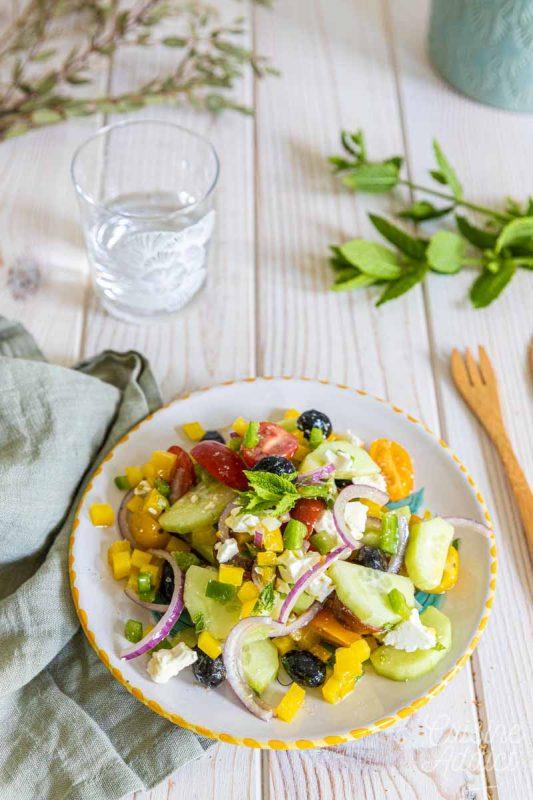 Salade fraîche et croquante