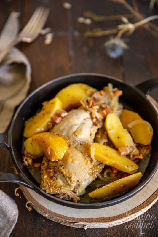 Poulet au cidre et pommes