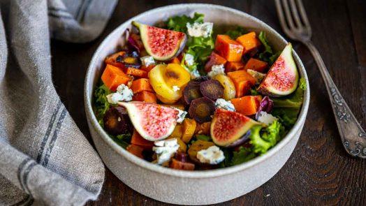 Recette de salade aux patates douces et figues