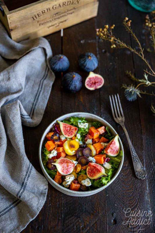 Salade de légumes racine et figues